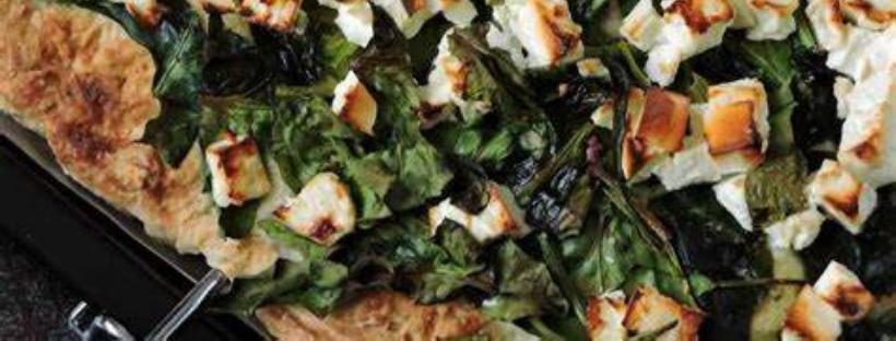 Pizza mit Spinat